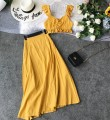 Fashion suit Spring 2021 S,M,L,XL yellow 18-25 years old