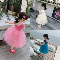 Dress Blue, beige, pink female Other / other 7 / 100, 9 / 110, 11 / 120, 13 / 130, 15 / 135 Cotton 95% polyurethane elastic fiber (spandex) 5% summer lady Short sleeve Solid color cotton Lotus leaf edge AF68923 Class B Chinese Mainland Zhejiang Province Wenzhou City
