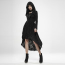 Dress Spring 2020 black XS,S,M,L,XL,2XL,3XL,4XL Mid length dress singleton  Long sleeves commute Hood middle-waisted zipper Irregular skirt routine 25-29 years old Type A PUNK RAVE Retro WY1149 71% (inclusive) - 80% (inclusive) other polyester fiber