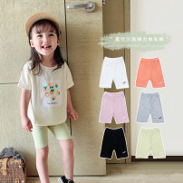 trousers Other / other female 80cm hang tag 80 Qingqing code, 90cm hang tag 90100cm hang tag 100110cm hang tag 110120cm hang tag 120130cm hang tag 130140cm hang tag 140 Black, white, pink, orange, gray, fruit green summer Pant Korean version There are models in the real shooting Leggings Leather belt
