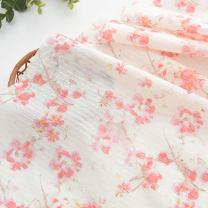 Fabric / fabric / handmade DIY fabric cotton Width 108CM Loose shear rice Plants and flowers jacquard weave clothing Japan and South Korea Bean weaving 100%