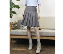 skirt Autumn 2020 S,M,L,XL Black, dark brown, grey Middle-skirt Versatile Natural waist Pleated skirt Solid color 25-29 years old Q21767 More than 95% other Muyao other