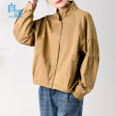 short coat Spring 2021 M L Khaki black Long sleeves routine Thin money singleton  routine stand collar Single breasted Solid color Soliloquy 96% and above WT2110143 cotton Cotton 100%