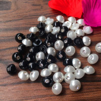 Button Tang Fei crystal White, black 10mm,7.5mm,9mm
