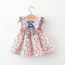 Dress female Other / other 66cm,73cm,80cm,90cm,100cm,110cm Other 100% summer Korean version Skirt / vest Broken flowers cotton A-line skirt 3 months, 12 months, 6 months, 9 months, 18 months, 2 years old, 3 years old, 4 years old