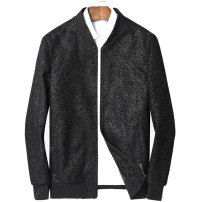 leather clothing Others Fashion City black 50. XL, 2XL, 3XL, 4XL, 5XL, silk cotton thickened, please check in have cash less than that is registered in the accounts Leather clothes Baseball collar Slim fit zipper autumn leisure time youth Sheepskin Basic public 273-1 Rib hem printing Animal design