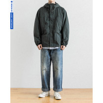 Jacket Other / other Youth fashion blackish green S,M,L,XL,2XL routine easy Other leisure autumn Polyamide fiber (nylon) 100% Long sleeves Wear out Hood tide youth routine Zipper placket 2020 Cloth hem No iron treatment Closing sleeve Solid color Cover patch bag nylon More than 95%