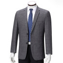 man 's suit Gray, dark gray, 23-1826 red check, casual gray Thousand shield Fashion City routine 165 (46), 170 (48), 175 (50), 180 (52), 185 (54), 190 (56) Wool 85% Cashmere (cashmere) 10% others 5% easy Double breasted Other leisure No slits middle age Long sleeves autumn routine Business Casual