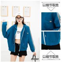 short coat Spring 2021 XL,2XL,3XL,4XL,5XL green routine routine singleton  cotton