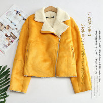 short coat Winter of 2018 XS S M L XL Pink yellow coffee Long sleeves routine thickening singleton  Straight cylinder commute routine Half open collar zipper Solid color 31% (inclusive) - 50% (inclusive)