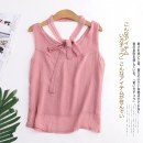 T-shirt Average size Summer of 2019 Sleeveless other easy Regular routine Sweet other 30% and below Solid color Other / other Mori