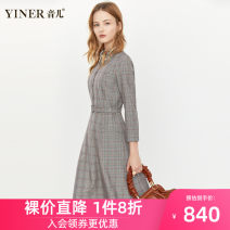 Dress Autumn 2020 Grey (spot) grey 2 36 38 40 42 44 46 Middle-skirt singleton  Nine point sleeve commute Polo collar A-line skirt routine 30-34 years old Sound Ol style 8C60305470 81% (inclusive) - 90% (inclusive) other polyester fiber Same model in shopping mall (sold online and offline)