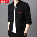 shirt Youth fashion hyz  165 170 175 180 185 190 routine square neck Long sleeves standard Other leisure spring youth Cotton 100% tide 2020 other Spring 2020 No iron treatment other Same model in shopping mall (sold online and offline)