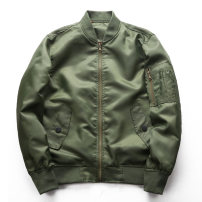 Jacket Other / other Youth fashion S,M,L,XL,2XL,3XL,4XL,5XL,6XL routine standard Other leisure spring Long sleeves Wear out Baseball collar tide youth routine Zipper placket 2020 Rib hem No iron treatment Closing sleeve Solid color polyester fiber Rib bottom pendulum Digging bags with lids