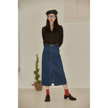 skirt Spring 2021 S,M,L Blue (spot), blue (pre sold in late April) Mid length dress Versatile High waist other Solid color Type H 25-29 years old 30% and below other Other / other other 40g / m ^ 2 and below