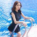 one piece  weiduo M,L,XL,XXL black Skirt one piece With chest pad without steel support Polyester, spandex, nylon 18055-1 female Sleeveless Casual swimsuit