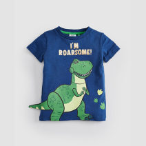 T-shirt Other / other male summer Short sleeve Crew neck leisure time No model nothing cotton dinosaur Cotton 100% Class A