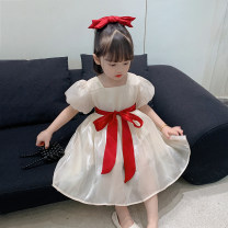 Dress Apricot, purple female Grapefruit rabbit 90cm,100cm,110cm,120cm,130cm,140cm Other 100% summer Korean version Long sleeves Solid color Cotton blended fabric Princess Dress Class B 18 months, 2 years old, 3 years old, 4 years old, 5 years old, 6 years old, 7 years old, 8 years old Huzhou City