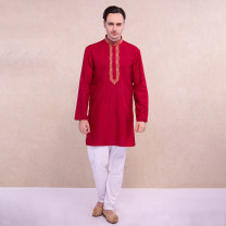 National Costume Other / other S,M,L,XL,2XL Clothes + pants (no return), only jacket (no return), no return! Return is not supported! The gown Y0099 Cotton 100% autumn leisure time 2019 other Solid color other other Rib