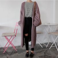 Wool knitwear Winter 2020 Big XL [100-140 kg], big 2XL [140-165 kg], big 3XL [165-195 kg] Black, gray, purple Long sleeves singleton  Cardigan Viscose 81% (inclusive) - 90% (inclusive) Medium length routine commute easy V-neck routine Solid color Korean version 18-24 years old pocket