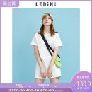 Dress Summer 2020 white S M L XL Short skirt singleton  Short sleeve Sweet 18-24 years old Leting C3FAA2404 More than 95% cotton Cotton 100% solar system