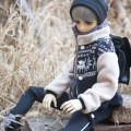 BJD doll zone suit 1/3 Over 14 years old Customized HAT + scarf + coat + T-shirt + pants (reduced by 15), hat, scarf, coat, white T-shirt (Moon pattern), pants (irregular cutting) 1 / 3BJD and sd13 men's size, 1 / 3BJD and sd17 men's size, 70 + BJD size AMORS WORLD 1 / 3 sd17 sd13 70 uncle