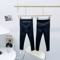 trousers Other / other female [spot] letter style, [spot] pure black, [pre-sale] letter style spring and autumn trousers Korean version There are models in the real shooting Yoga Pants Leather belt High waist other Don't open the crotch nothing