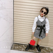 suit Other / other 2-piece suit female spring and autumn Korean version Long sleeve + skirt 2 pieces routine There are models in the real shooting Single breasted nothing lattice other children birthday Three, four, five, six, seven, eight, nine, ten, eleven, twelve