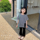 suit Other / other 2-piece set, [pre-sale] 2-piece set female summer Korean version Short sleeve + pants 2 pieces routine There are models in the real shooting Socket nothing stripe other children birthday Three, four, five, six, seven, eight, nine, ten, eleven, twelve