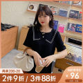 Women's large Summer 2021 Black, black pre-sale Large L, large XL, 2XL, 3XL, 4XL, 5XL shirt singleton  commute easy moderate Socket Short sleeve Solid color Korean version other routine polyester Three dimensional cutting Wrap sleeves A0808 Caidoble / caidoble · CAI 25-29 years old Button