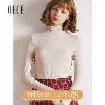 Wool knitwear Autumn of 2019 XS,S,M,L Black, beige Long sleeves singleton  Socket Lycra Lycra 30% and below Regular routine commute Self cultivation High collar routine Solid color Socket lady 25-29 years old Oece