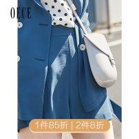 Casual pants Royal Blue XS,S,M,L Summer of 2019 shorts Wide leg pants High waist 192KP597 Oece