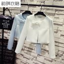 short coat Spring of 2019 Xxl118 to 128 Jin mm, XL for 109 to 118 Jin, l for 97 to 108 Jin mm, m for 70 to 97 Jin mm, the store made it by itself, quality and quantity guaranteed White, black Long sleeves have cash less than that is registered in the accounts routine singleton  Self cultivation bow