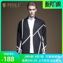 T-shirt / sweater Pinli Fashion City Black, gray M170,L175,XL180,XXL185,XXXL190 routine Socket stand collar Long sleeves B193410376 spring and autumn easy 2020 Viscose (viscose) 50.1% polyester 28.7% polyamide (nylon) 21.2% leisure time Youthful vigor youth routine Geometric pattern Mercerization