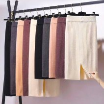 skirt Winter of 2018 Long [78cm], short [58cm], medium [68cm] Dark grey, black, apricot, red coffee Mid length dress commute High waist skirt Solid color Type H 18-24 years old 51% (inclusive) - 70% (inclusive) knitting other Korean version 401g / m ^ 2 (inclusive) - 500g / m ^ 2 (inclusive)