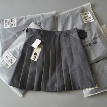 skirt Summer of 2019 S. It's about 95kg in size 2, XS, 85kg in size 1, 105kg in size 3, 115KG in size 4, XL, 125kg in size 5 Short skirt commute High waist A-line skirt Solid color Type A 18-24 years old 71% (inclusive) - 80% (inclusive) other Resin fixation and three-dimensional decoration