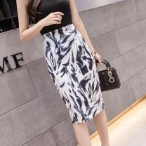 skirt Summer 2021 S,M,L,XL Decor longuette commute High waist skirt Decor Type H other other Korean version