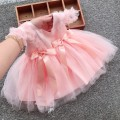 Dress female Other / other 59cm,66cm,73cm,80cm,90cm Other 100% princess Short sleeve Solid color cotton A-line skirt 3 months, 12 months, 6 months, 9 months, 18 months, 2 years old, 3 years old Chinese Mainland