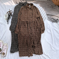 Dress Autumn of 2019 Average size Mid length dress singleton  Long sleeves Decor Socket 18-24 years old 31% (inclusive) - 50% (inclusive) other other