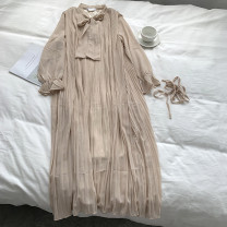 Dress Spring 2020 Average size Mid length dress singleton  Long sleeves Solid color Socket 18-24 years old 31% (inclusive) - 50% (inclusive) other other