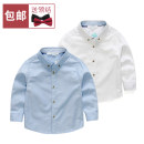 shirt Other / other male spring and autumn Long sleeves Solid color Pure cotton (100% cotton content) Lapel and pointed collar Cotton 100% other