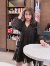 Women's large Winter of 2019 black Large XL, large XXL, large XXL, large XXXXL, large XXXXL Dress singleton  commute easy moderate Socket Long sleeves Solid color Korean version V-neck Polyester, polyester Three dimensional cutting Addictive 18-24 years old Medium length