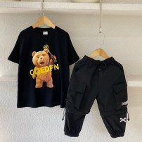T-shirt Black (stock) Three bears Castle Seven, nine, eleven, thirteen, fifteen, seventeen neutral other other Cotton 95% other 5% 2, 3, 4, 5, 6, 7, 8, 9, 10 years old