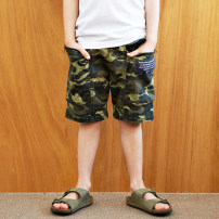 trousers Three bears Castle neutral Five, seven, nine, eleven, thirteen, fifteen, seventeen, nineteen Camouflage (reservation), coffee (reservation), black (reservation) spring and autumn shorts leisure time No model Casual pants Leather belt middle-waisted other Don't open the crotch
