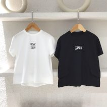 T-shirt White (spot), black (spot) Three bears Castle No.5 , No.7 , 9 , 11 , NO.13 , 15 , 17 neutral summer Crew neck motion nothing cotton other Cotton 95% other 5% Chinese Mainland
