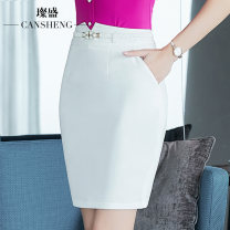 skirt Summer 2017 S M L XL XXL XXXL Black and white Middle-skirt commute Natural waist Suit skirt Solid color Type X 25-29 years old 91% (inclusive) - 95% (inclusive) Chiffon Can Sheng polyester fiber Ol style Polyester 95% polyurethane elastic fiber (spandex) 5% Pure e-commerce (online only)