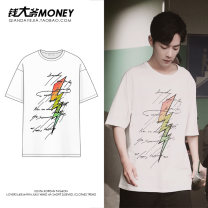 T-shirt white S,M,L,XL,2XL Summer of 2019 Short sleeve Crew neck easy Regular routine commute cotton 51% (inclusive) - 70% (inclusive) 18-24 years old Korean version classic Grind strong
