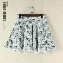 skirt Autumn of 2019 S, M white Short skirt Sweet A-line skirt other Type A 25-29 years old I7340 81% (inclusive) - 90% (inclusive) Other / other other