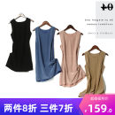 Dress Summer 2020 Black, blue, pink, khaki S/160,M/165,L/170 singleton  Sleeveless commute Crew neck Solid color 25-29 years old Other / other Simplicity L2261 More than 95% silk