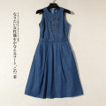 Dress Summer 2020 navy blue XS,S,M,L Mid length dress singleton  Sleeveless Other / other L1906 More than 95% cotton